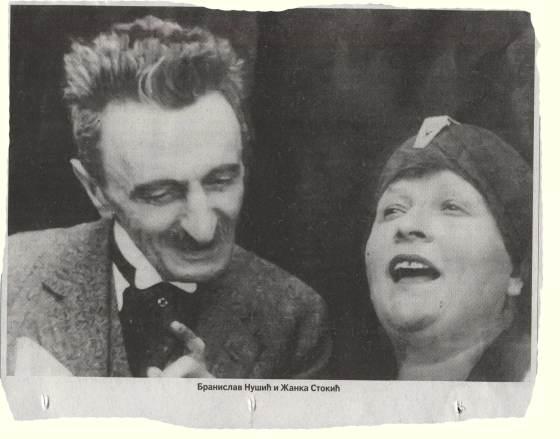 ZANKA STOKIC i Branislav Nusic 1925