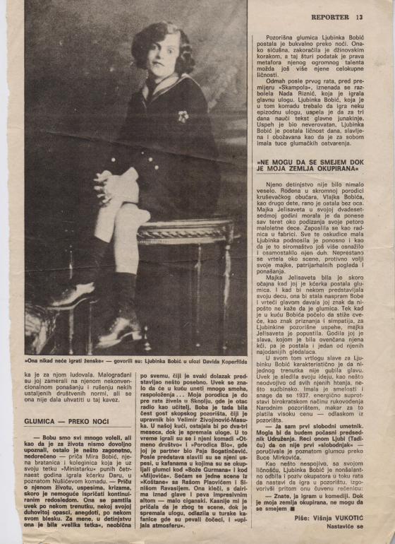 Stop odlazi Ministarka 1978 2 Ljubinka Bobic