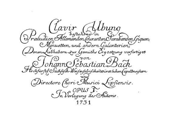 6 partitas Clavier-Übung-I-title-page