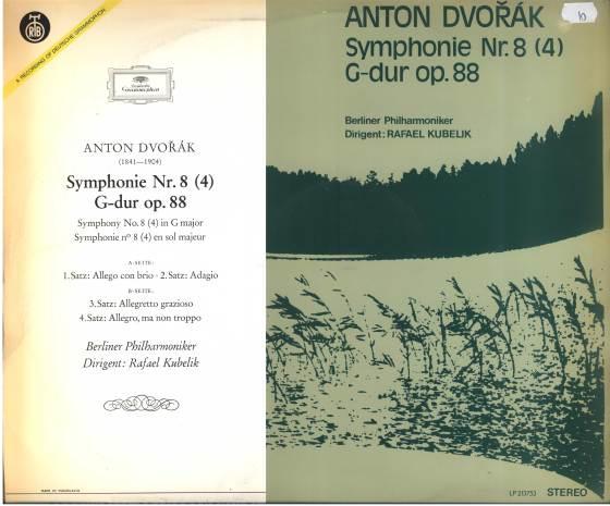 ANTONIN DVORAK Symphonie no 8